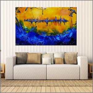 (CreativeWork) Life is a Beach  160cm x 100cm beach ocean Textured Acrylic Abstract Gloss Finish FRANKO  by _Franko _. arcylic-painting. Shop online at Bluethumb.