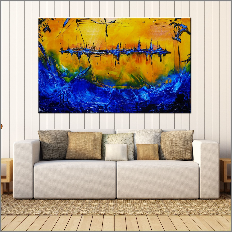 (CreativeWork) Life is a Beach  160cm x 100cm beach ocean Textured Acrylic Abstract Gloss Finish FRANKO  by _Franko _. #<Filter:0x000055a2484003b8>. Shop online at Bluethumb.