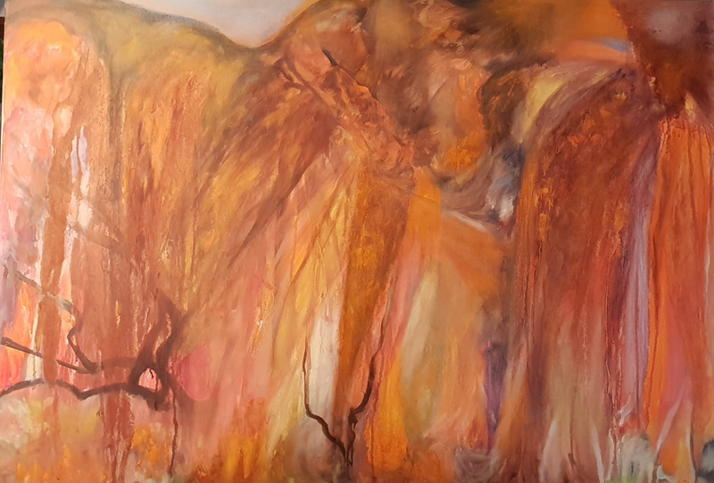 (CreativeWork) At Uluru  by Vanessa Whittington. Oil Paint. Shop online at Bluethumb.