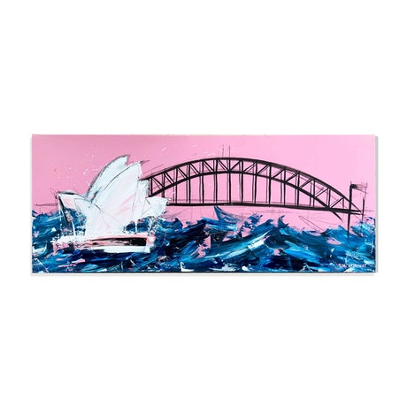 (CreativeWork) Stormy Sydney Harbour by Tim Christinat. Acrylic Paint. Shop online at Bluethumb.