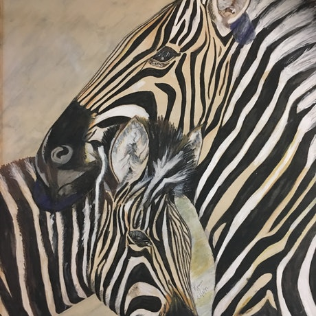 (CreativeWork) Zebras take their stripes wherever they go (Masai proverb) Ed. 1 of 50 by Myriam Malengret. Print. Shop online at Bluethumb.