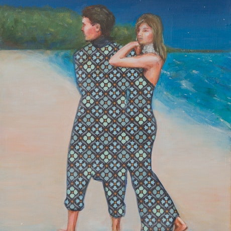 (CreativeWork) After the ball by Leah Mariani. Oil Paint. Shop online at Bluethumb.