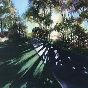 (CreativeWork) Afternoon in Cotton Tree by Kathryn Johnston. arcylic-painting. Shop online at Bluethumb.