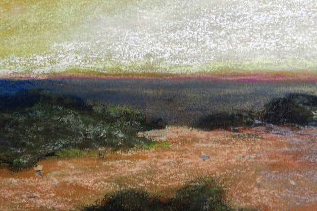 (CreativeWork) Sunset Storm over the Bight. by Anne Huth. Drawings. Shop online at Bluethumb.