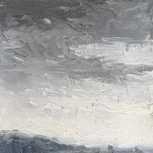 (CreativeWork) Grey Dawn #2 by James Walker. oil-painting. Shop online at Bluethumb.