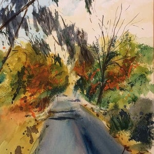(CreativeWork) Kilmore East VIC (watercolour) by Margaret Morgan (Watkins). watercolour. Shop online at Bluethumb.