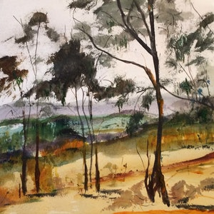 (CreativeWork) Smith's Gully VIC by Margaret Morgan (Watkins). watercolour. Shop online at Bluethumb.