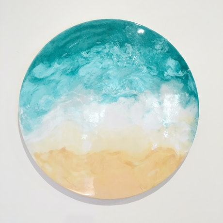 (CreativeWork) Waters by Stephanie Lisa. Resin. Shop online at Bluethumb.