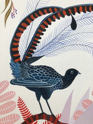 (CreativeWork) The Superb and the Sublime by Sally Browne. Watercolour Paint. Shop online at Bluethumb.