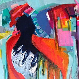 (CreativeWork) Color crisis  by Tracey Berthold. mixed-media. Shop online at Bluethumb.