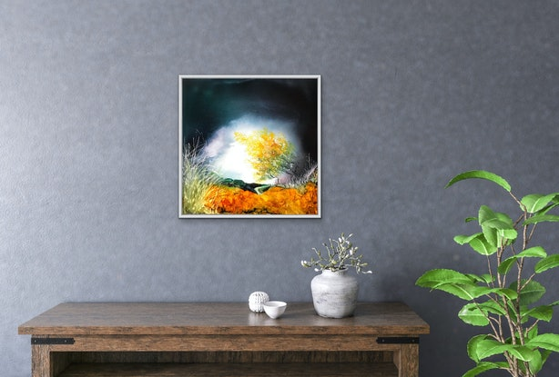(CreativeWork) BLOSSOMS OF GOLD by Meg Lewer. Other Media. Shop online at Bluethumb.
