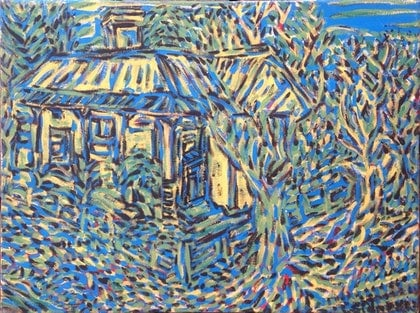 (CreativeWork) Old house' Woodford by Sidney Sprague. arcylic-painting. Shop online at Bluethumb.