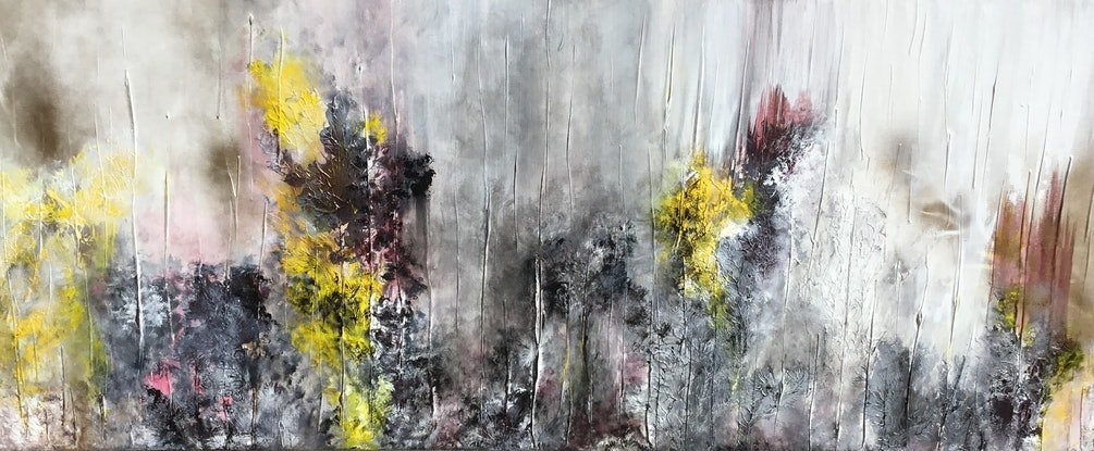 (CreativeWork) Mysterious Forest by Magdalena Knight. Acrylic Paint. Shop online at Bluethumb.