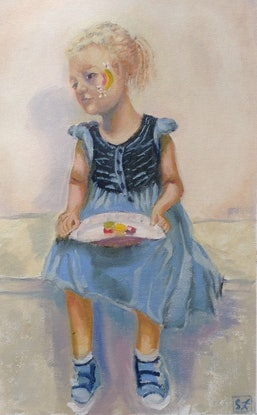 (CreativeWork) It's My Party by Graeme Symons. Oil Paint. Shop online at Bluethumb.