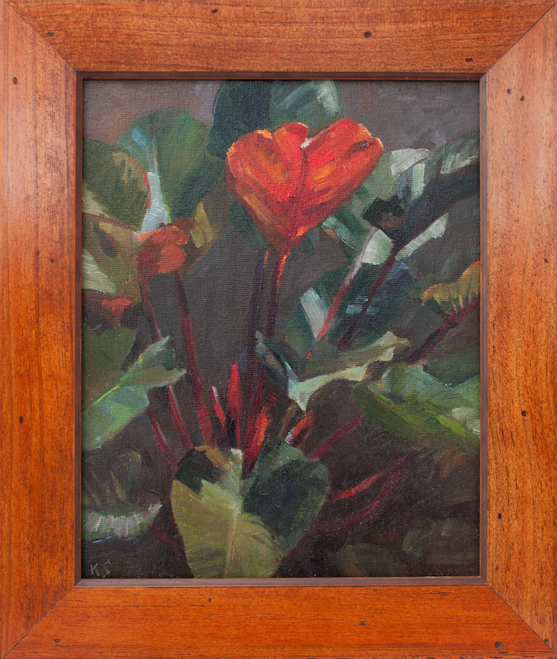 (CreativeWork) Philodendron by Katia Strounina. Oil Paint. Shop online at Bluethumb.