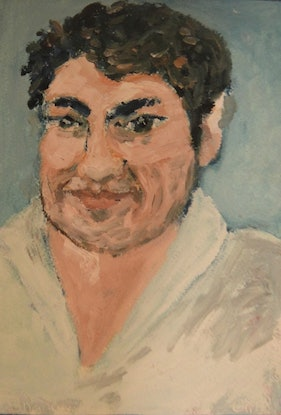 """(CreativeWork) """"Shane"""" (mfl 82 of 230)  by elij foote. Oil Paint. Shop online at Bluethumb."""