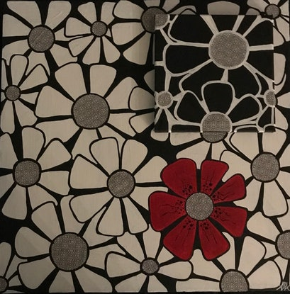 (CreativeWork) Monochrome and More 1 by Annette Appleby. Acrylic Paint. Shop online at Bluethumb.