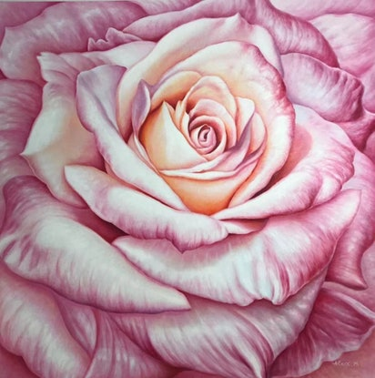 (CreativeWork) ROSE #5 by Alex Mo. Oil Paint. Shop online at Bluethumb.