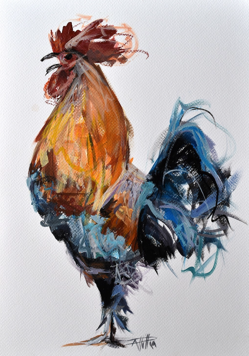 (CreativeWork) Morning Announcement  by Rebecca Hill. Mixed Media. Shop online at Bluethumb.