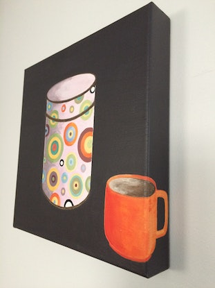 (CreativeWork) Pot of Gold by Ilona Kovacs. Acrylic Paint. Shop online at Bluethumb.