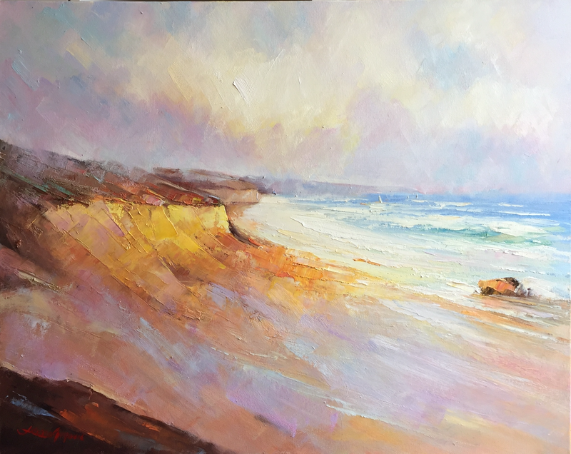(CreativeWork) Port Campbell #3 by Liliana Gigovic. Oil Paint. Shop online at Bluethumb.