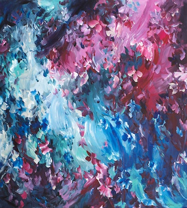 (CreativeWork) Mysterious Heart by Amber Gittins. Acrylic Paint. Shop online at Bluethumb.
