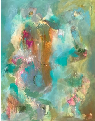 (CreativeWork) FLORA VIBES by Tracey Berthold. Mixed Media. Shop online at Bluethumb.