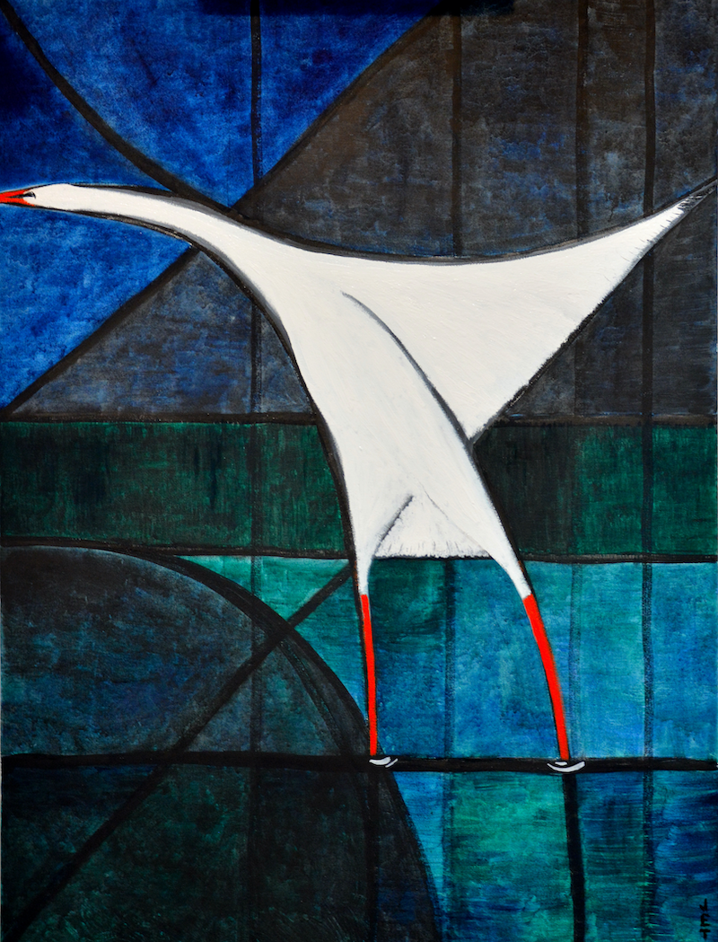 (CreativeWork) Bird by Janet Thomas. mixed-media. Shop online at Bluethumb.