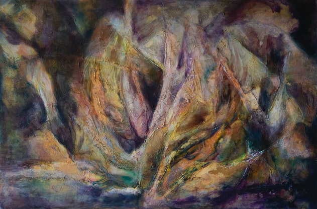 (CreativeWork) Cave  by Chris Leefe. Oil Paint. Shop online at Bluethumb.