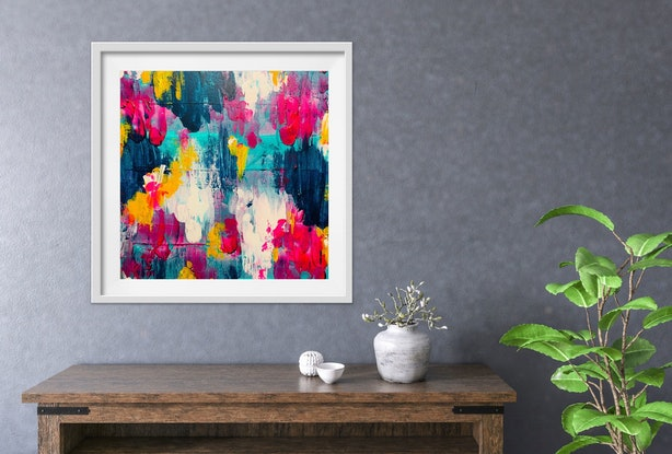 (CreativeWork) Spring Blooms by Sandra Benskin. Acrylic Paint. Shop online at Bluethumb.