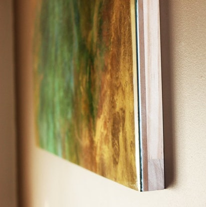 (CreativeWork) ALL THAT JADE-RESIN ARTWORK by Gabbylou Dignam. Resin. Shop online at Bluethumb.