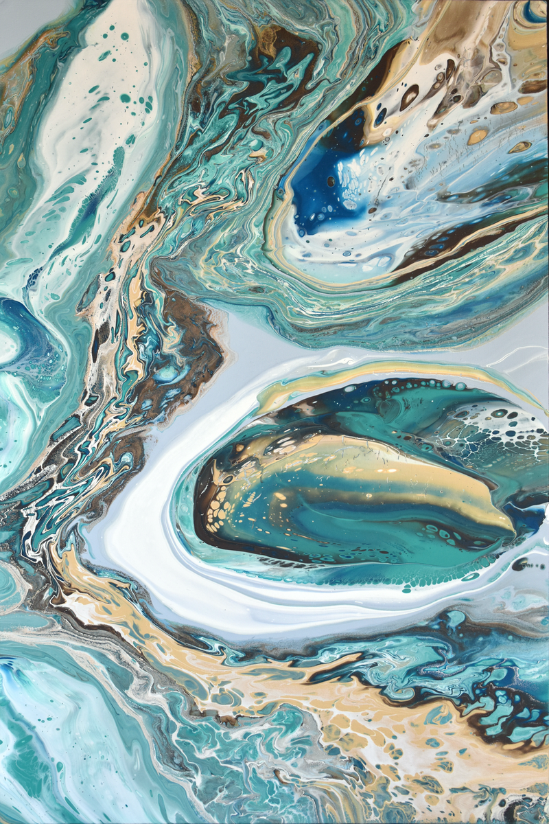 (CreativeWork) Atolls by Brigitte Ackland. Acrylic Paint. Shop online at Bluethumb.