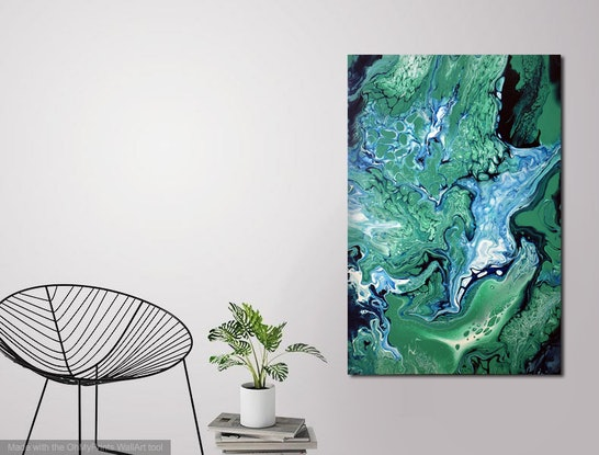 (CreativeWork) Of Land and Sea by Brigitte Ackland. Acrylic Paint. Shop online at Bluethumb.