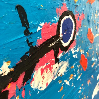 (CreativeWork) Lost in Space by Warren Alexander. Acrylic Paint. Shop online at Bluethumb.