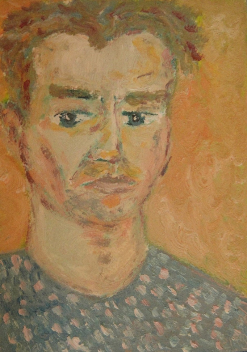 "(CreativeWork) ""Andy"" (mfl 88 of 230) by elij foote. Oil Paint. Shop online at Bluethumb."