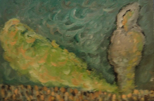 """(CreativeWork) """"The Shadow"""" (mfl 92 of 230) by elij foote. Oil Paint. Shop online at Bluethumb."""