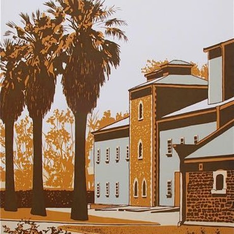 (CreativeWork) Seppeltsfield Winery Ed. 9 of 30 by Valerie Jordan. Print. Shop online at Bluethumb.