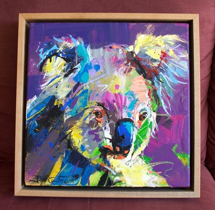 (CreativeWork) Koala 8 by Jos Coufreur. Acrylic Paint. Shop online at Bluethumb.
