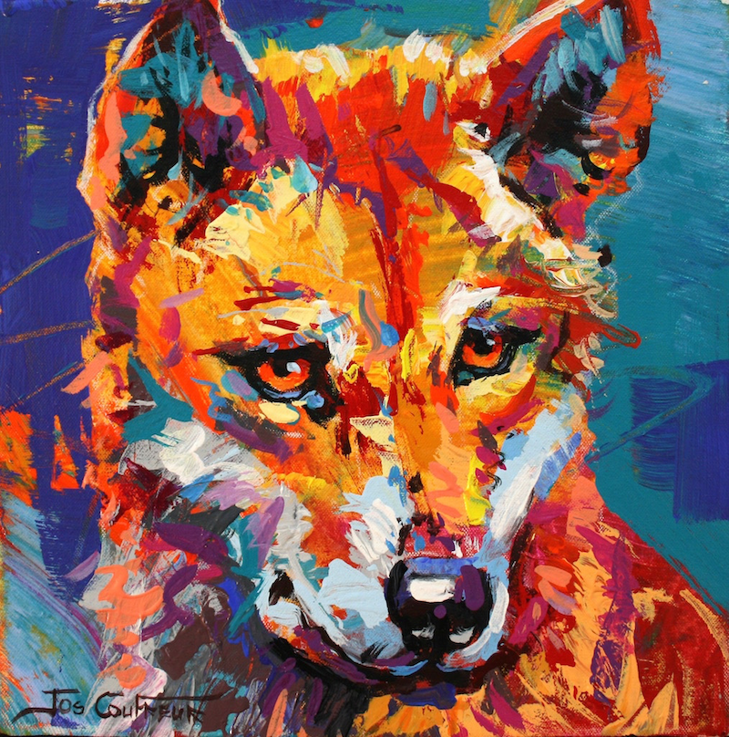 (CreativeWork) Dingo 4 by Jos Coufreur. Acrylic Paint. Shop online at Bluethumb.