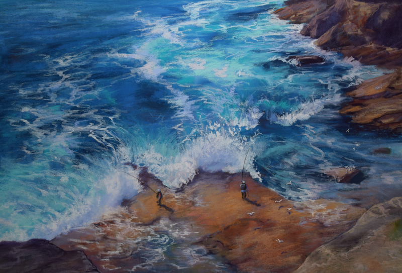 (CreativeWork) Sydney Rockpools by Tricia Taylor. Mixed Media. Shop online at Bluethumb.