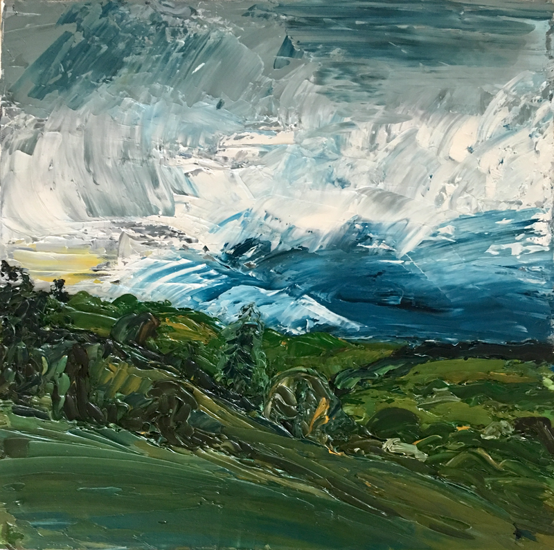 (CreativeWork) Tullera, Byron Bay  hinterland Northern Nsw by Michelle Keighley. Oil Paint. Shop online at Bluethumb.
