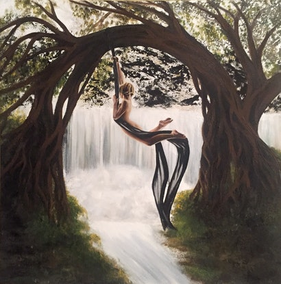 (CreativeWork) Just Hanging ..... by Gerlinde Thomas. Acrylic Paint. Shop online at Bluethumb.