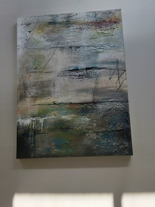 (CreativeWork) The Lake by Jane McCumstie. Mixed Media. Shop online at Bluethumb.