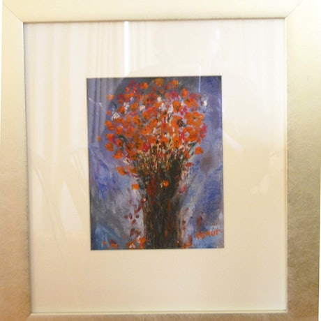 (CreativeWork) flower composition-2 by venur gorloff. Oil Paint. Shop online at Bluethumb.