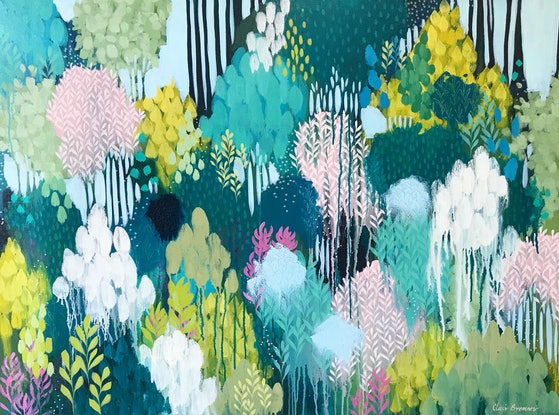 (CreativeWork) The Beautiful Space Around Us by Clair Bremner. Acrylic Paint. Shop online at Bluethumb.