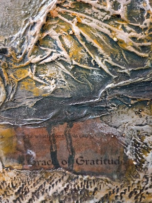 (CreativeWork) Grace and Gratitude by Jane McCumstie. Mixed Media. Shop online at Bluethumb.