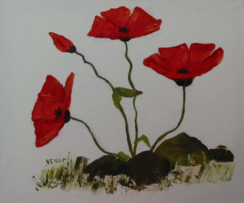 (CreativeWork) Poppies by venur gorloff. Oil Paint. Shop online at Bluethumb.