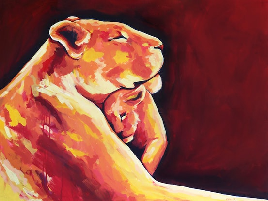 (CreativeWork) 'More Than Love'  by Rhiannon Hetherington. Acrylic Paint. Shop online at Bluethumb.