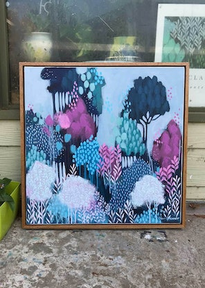 (CreativeWork) Blossom Morning by Clair Bremner. Acrylic Paint. Shop online at Bluethumb.