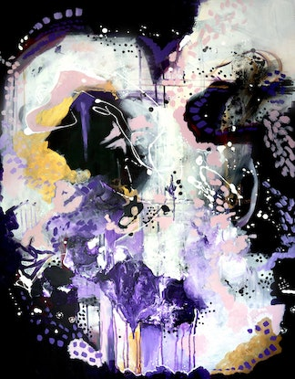 (CreativeWork) Abstract Original Painting Untitled by Rhiannon Hetherington. Mixed Media. Shop online at Bluethumb.